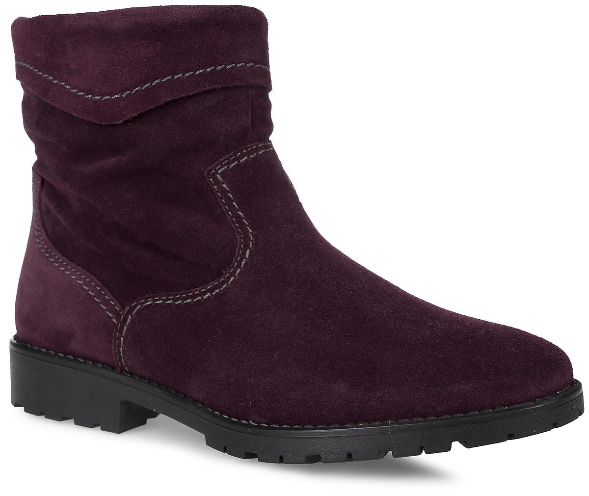 1-1-26005-27-558Модные женские ботинки от Tamaris выполнены из натуральной кожи. Подкладка и стелька из шерсти не дадут ногам замерзнуть. Боковая застежка-молния позволяет легко снимать и надевать модель. Подошва и невысокий каблук дополнены рифлением.