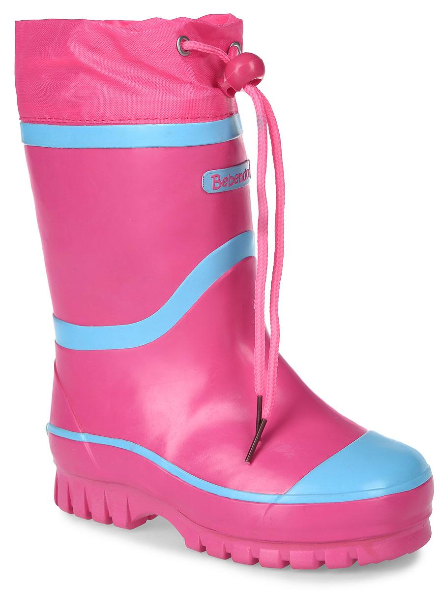 1115505Утепленные резиновые сапоги от Bebendorff - идеальная обувь в холодную дождливую погоду для вашего ребенка. Сапоги выполнены из качественной резины. Подкладка из шерсти с добавлением хлопка подарят ощущение комфорта и тепла вашему ребенку. Съемная стелька EVA с поверхностью из шерсти с добавлением хлопка комфортна при движении. Текстильный верх голенища регулируется в объеме за счет шнурка со стоппером. Подошва дополнена протектором.