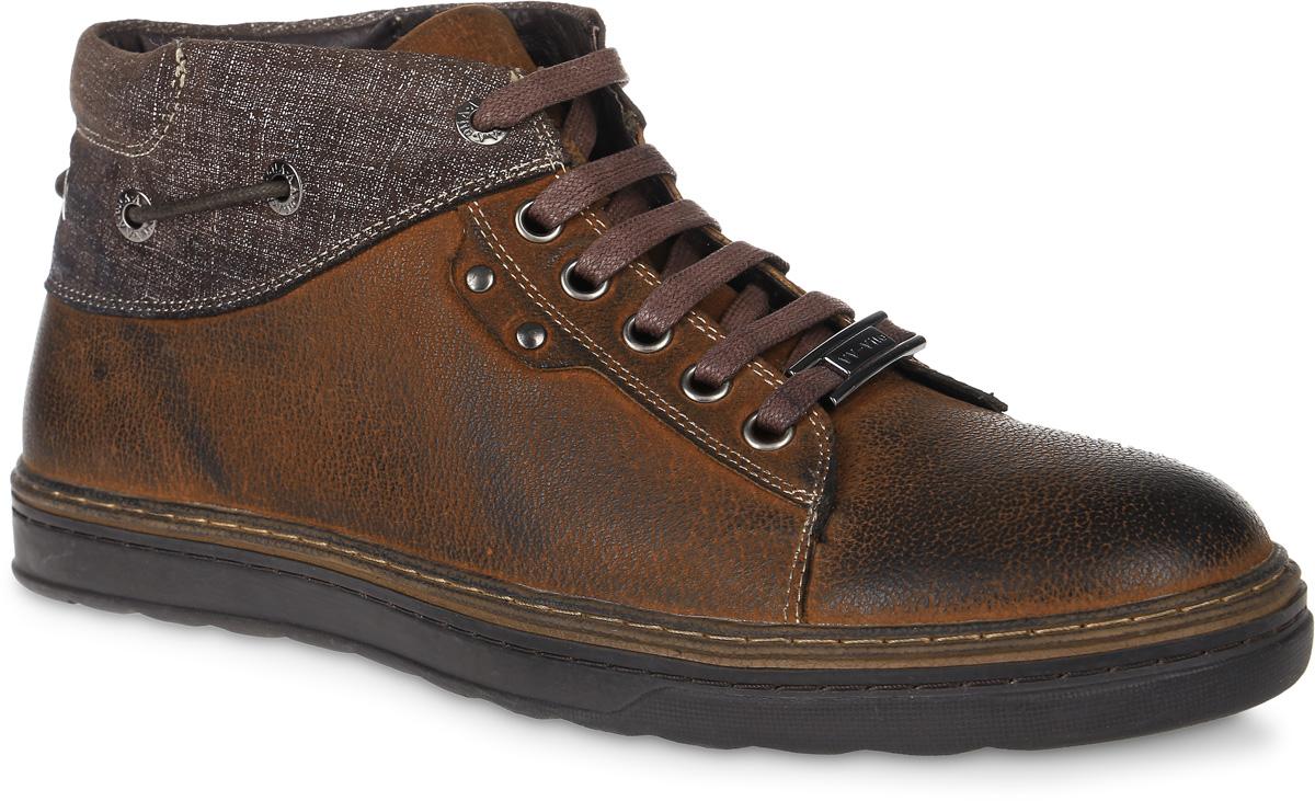 8-4042-6Стильные мужские ботинки от Vera Victoria Vito выполнены из натуральной кожи и оформлены шнурком, пропущенным через люверсы. Подкладка и стелька из байки обеспечат комфорт. Шнуровка надежно зафиксирует модель на ноге. Подошва дополнена рифлением.