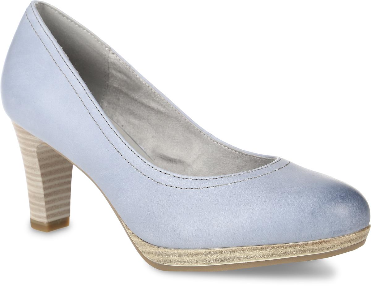 1-1-22410-28-802Модные женские туфли от Tamaris заинтересуют вас своим дизайном! Модель выполнена из натуральной кожи. Стелька из искусственной кожи с технологией Touch-IT принимает форму стопы и обеспечивает комфорт. Высокий каблук, стилизованный под дерево, невероятно устойчив. Каблук оснащен амортизатором. Подошва и каблук дополнены рифлением.
