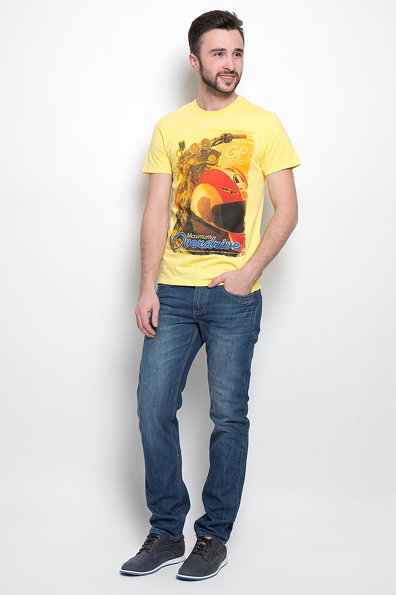 Ts-2411/004-7111Стильная мужская футболка Sela Sport выполнена из натурального хлопка. Модель с круглым вырезом горловины и короткими рукавами.