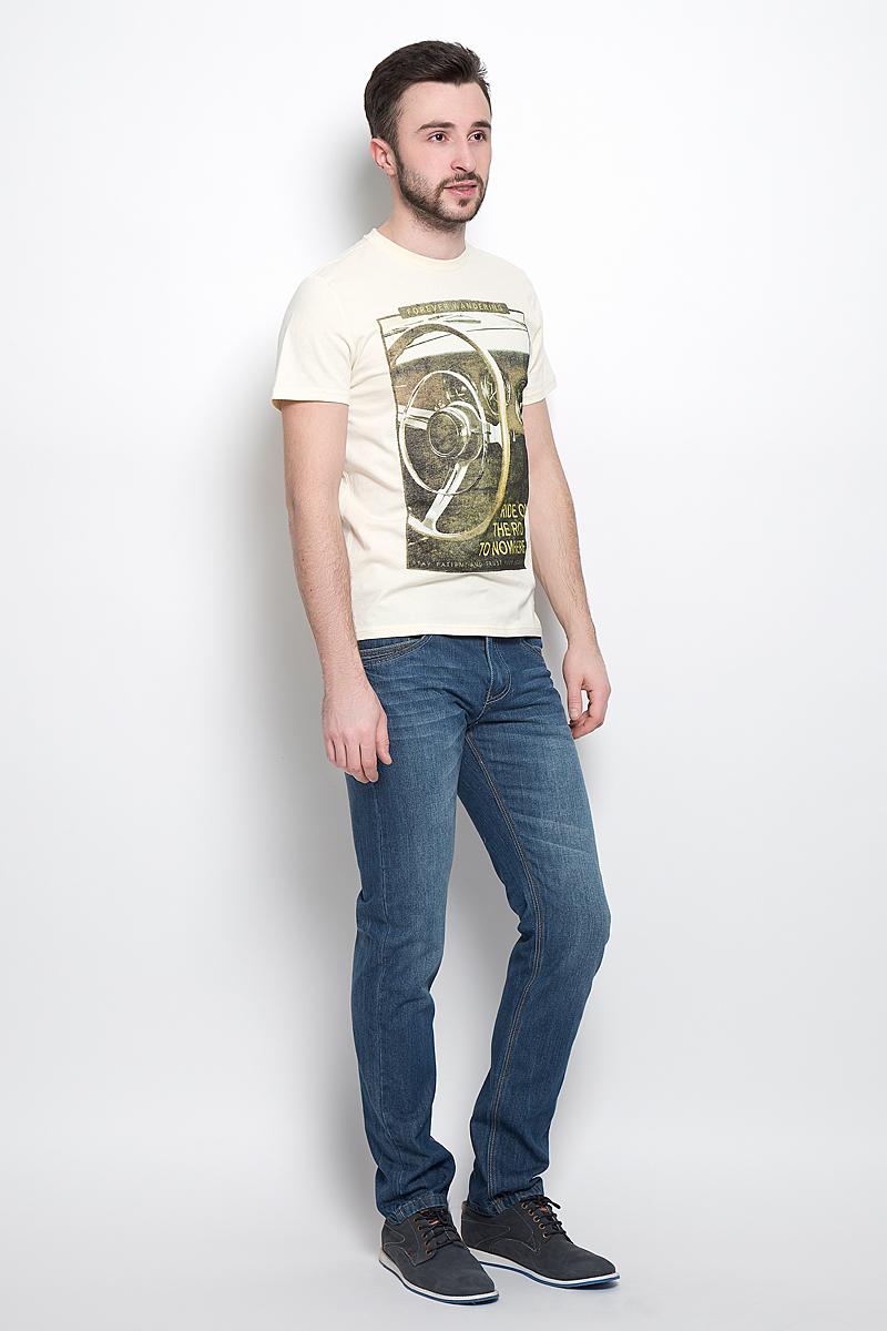 Ts-211/2032-7120Стильная мужская футболка Sela Casual Wear выполнена из натурального хлопка. Модель с круглым вырезом горловины и короткими рукавами.