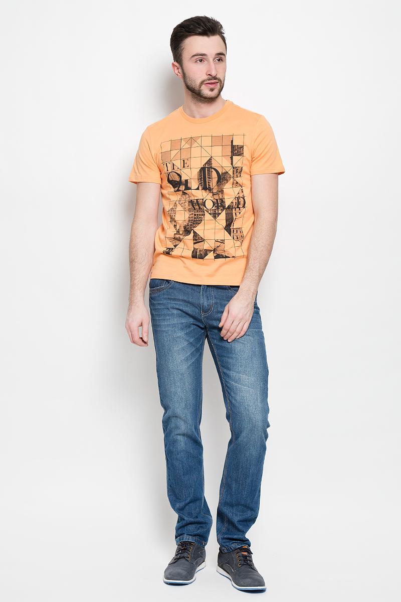 ФутболкаTs-211/2040-7111Стильная мужская футболка Sela Casual Wear выполнена из натурального хлопка. Модель с круглым вырезом горловины и короткими рукавами.