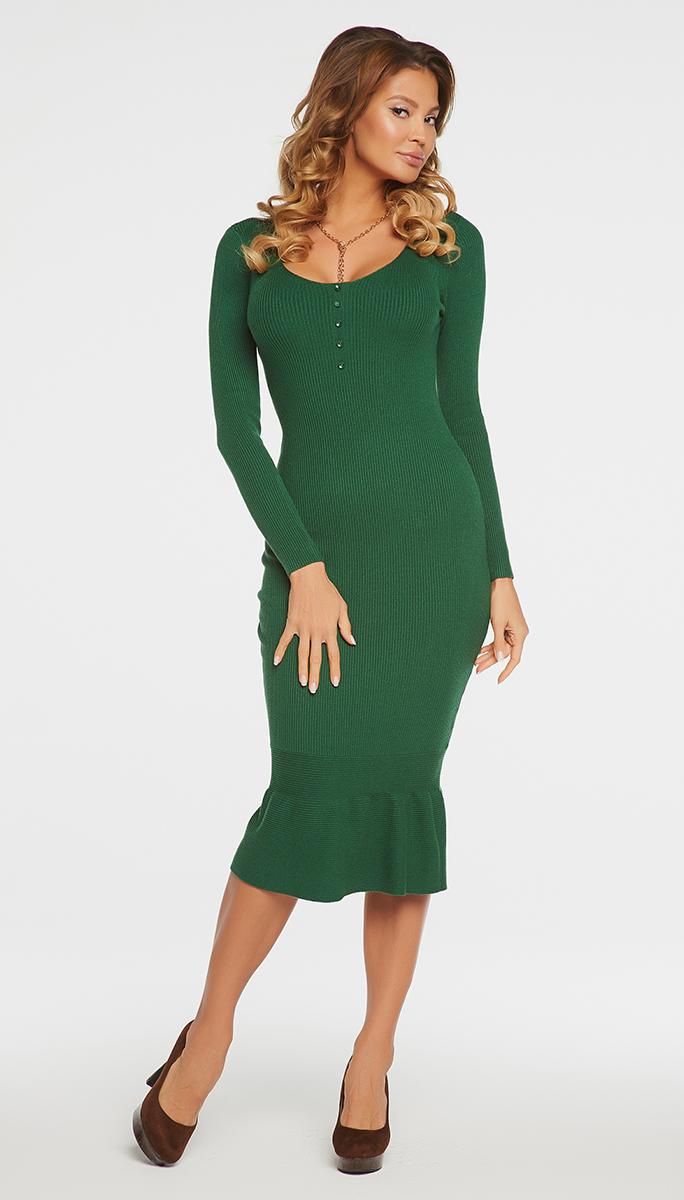 VV16-576Платье Vittoria Vicci выполнено из хлопка с добавлением вискозы, полиамида и эластана. Вязаная удлиненная модель с длинными рукавами имеет круглый вырез горловины. Платье дополнено декоративными пуговицами на груди.