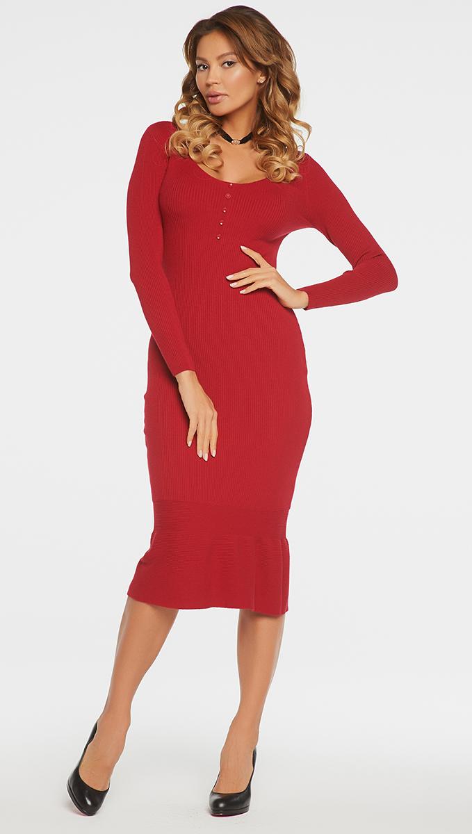 ПлатьеVV16-576Платье Vittoria Vicci выполнено из хлопка с добавлением вискозы, полиамида и эластана. Вязаная удлиненная модель с длинными рукавами имеет круглый вырез горловины. Платье дополнено декоративными пуговицами на груди.