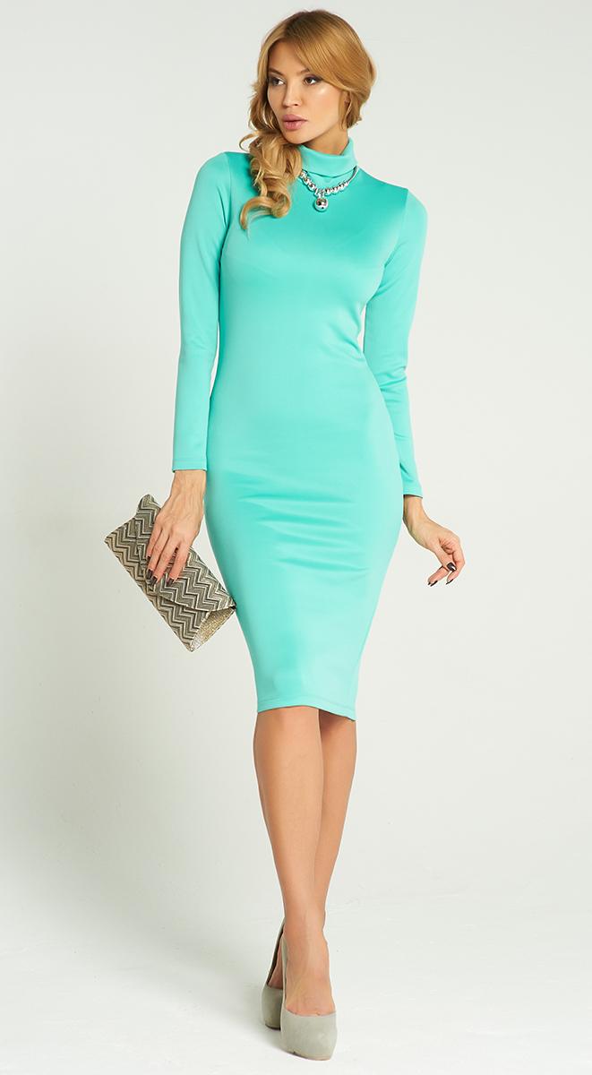 ПлатьеVV16-2817-1Стильное платье Vittoria Vicci изготовлено из полиэстера с добавлением эластана. Модель-миди с воротником-гольф и длинными рукавами выполнено в лаконичном дизайне.