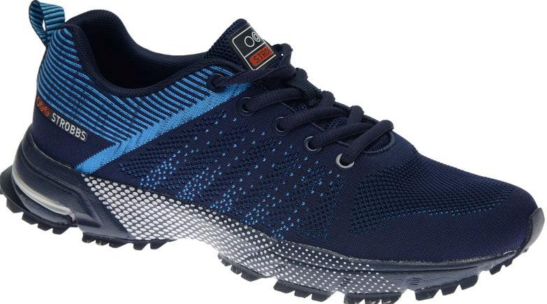 КроссовкиC2402-2Стильные мужские кроссовки Strobbs отлично подойдут для активного отдыха и повседневной носки. Верх модели выполнен из текстиля по бесшовной технологии. Удобная шнуровка надежно фиксирует модель на стопе. Толстая, протекторная подошва позволяет комфортно ощущать себя на каменистой поверхности. Промежуточный слой подошвы выполнен из ЭВА-материала, что позволяет снизить вес обуви.