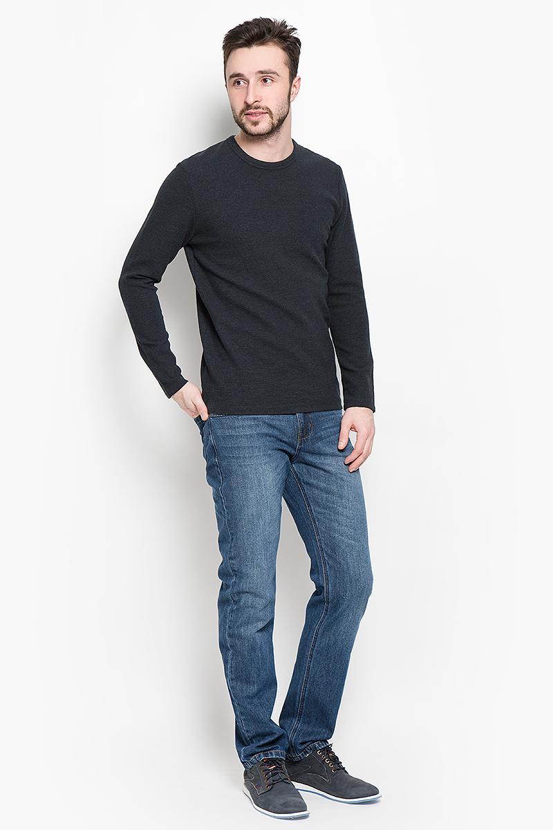 Пуловер16051696_AntracitМужской пуловер Selected Homme изготовлен из хлопка с добавлением вискозы и эластана. Модель с длинными рукавами имеет круглый вырез горловины. Благодаря однотонной расцветке, пуловер прекрасно сочетается с любыми нарядами.