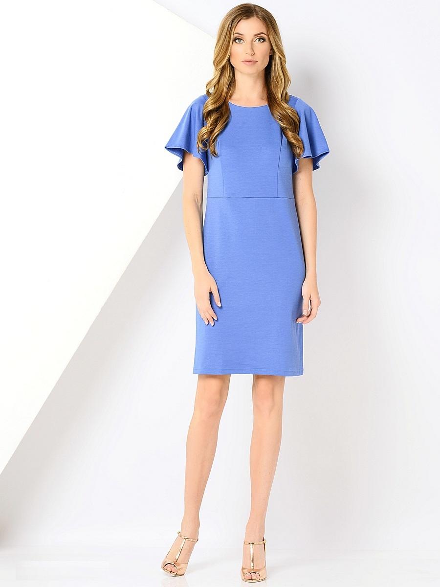 Платье40416Элегантное платье Milana Style выполнено из высококачественного материала. Такое платье обеспечит вам комфорт и удобство при носке и непременно вызовет восхищение у окружающих. Модель с короткими рукавами клин и круглым вырезом горловины выгодно подчеркнет все достоинства вашей фигуры. Сзади платье дополнено шлицей. Изысканное платье создаст обворожительный и неповторимый образ.