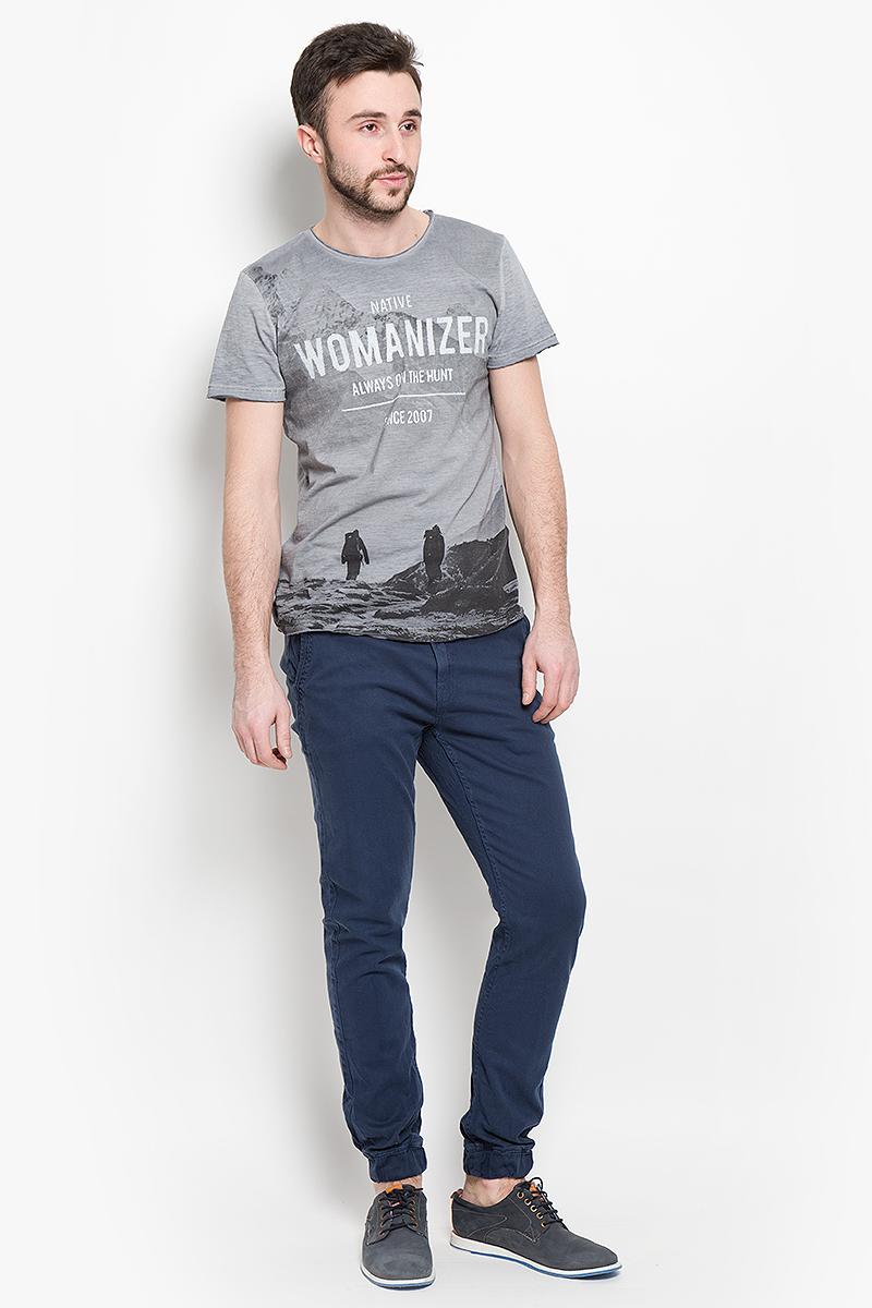 Футболка1036569.00.12_2802Стильная мужская футболка Tom Tailor Denim изготовлена из натурального хлопка. Модель с короткими рукавами и круглым вырезом горловины спереди оформлена принтовыми надписями.