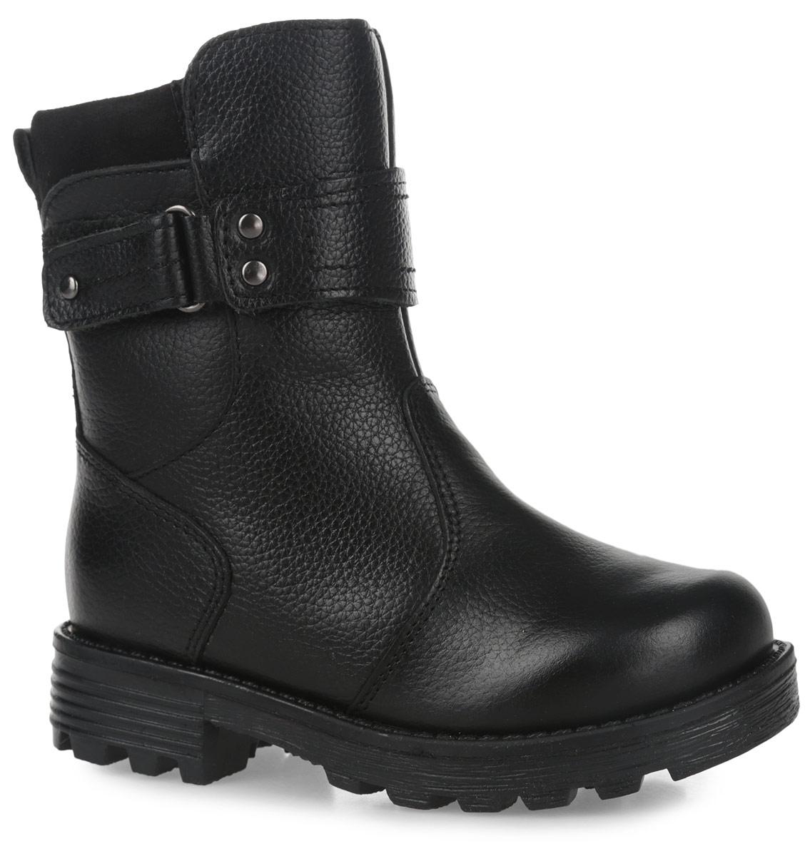 11197-1Теплые полусапоги от Зебра выполнены из натуральной кожи и оформлены декоративными ремешками. Застежка-молния надежно фиксирует изделие на ноге. Мягкая подкладка и стелька из натурального меха обеспечивают тепло, циркуляцию воздуха и сохраняют комфортный микроклимат в обуви. Подошва с рефлением гарантирует идеальное сцепление с любыми поверхностями.