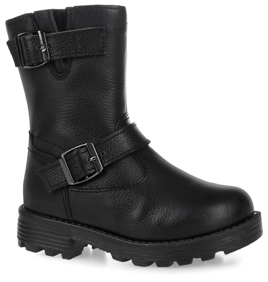 11199-1Пполусапоги от Зебра выполнены из натуральной кожи и оформлены декоративными ремешками. Застежка-молния надежно фиксирует изделие на ноге. Мягкая подкладка и стелька из натурального меха обеспечивают тепло, циркуляцию воздуха и сохраняют комфортный микроклимат в обуви.
