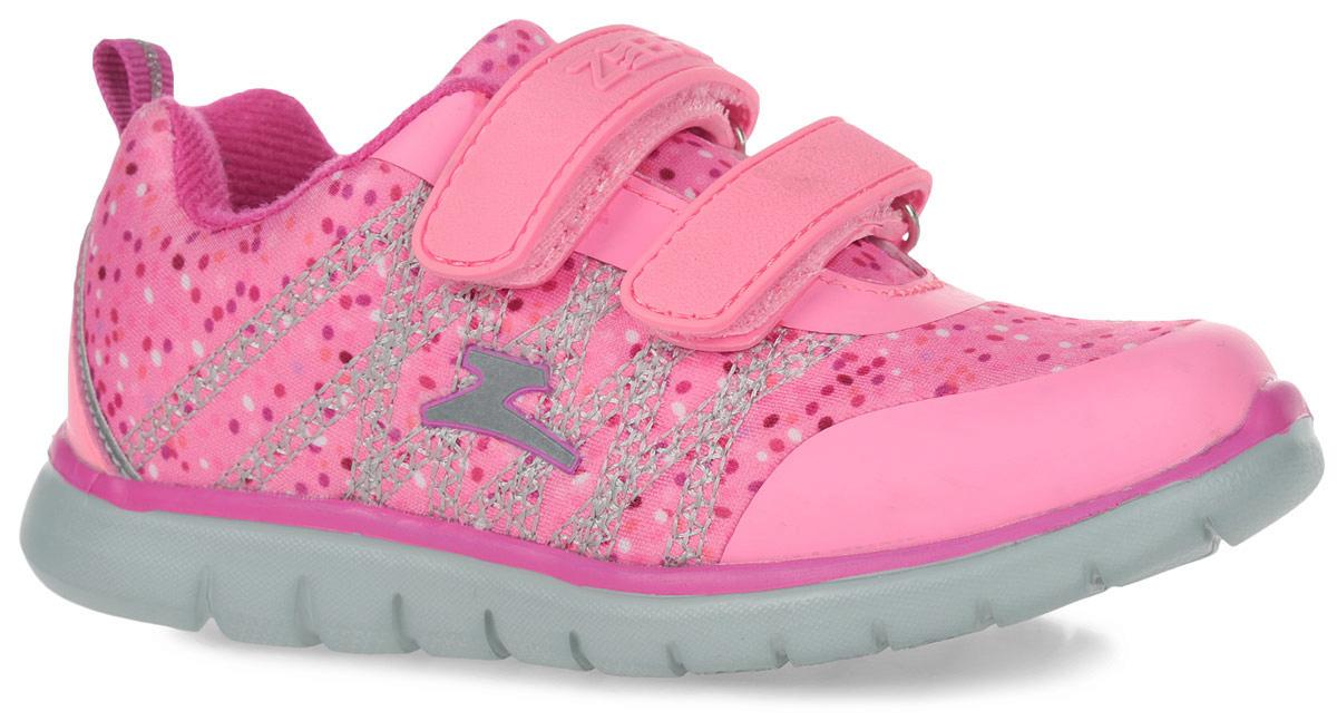 10883-20Кроссовки от фирмы Зебра выполнены из дышащего текстиля. Застежки-липучки обеспечивают надежную фиксацию обуви на ноге ребенка. Подкладка выполнена из текстиля, что предотвращает натирание и гарантирует уют. Стелька с поверхностью из натуральной кожи оснащена небольшим супинатором с перфорацией, который обеспечивает правильное положение ноги ребенка при ходьбе и предотвращает плоскостопие. Подошва с рифлением обеспечивает идеальное сцепление с любыми поверхностями.
