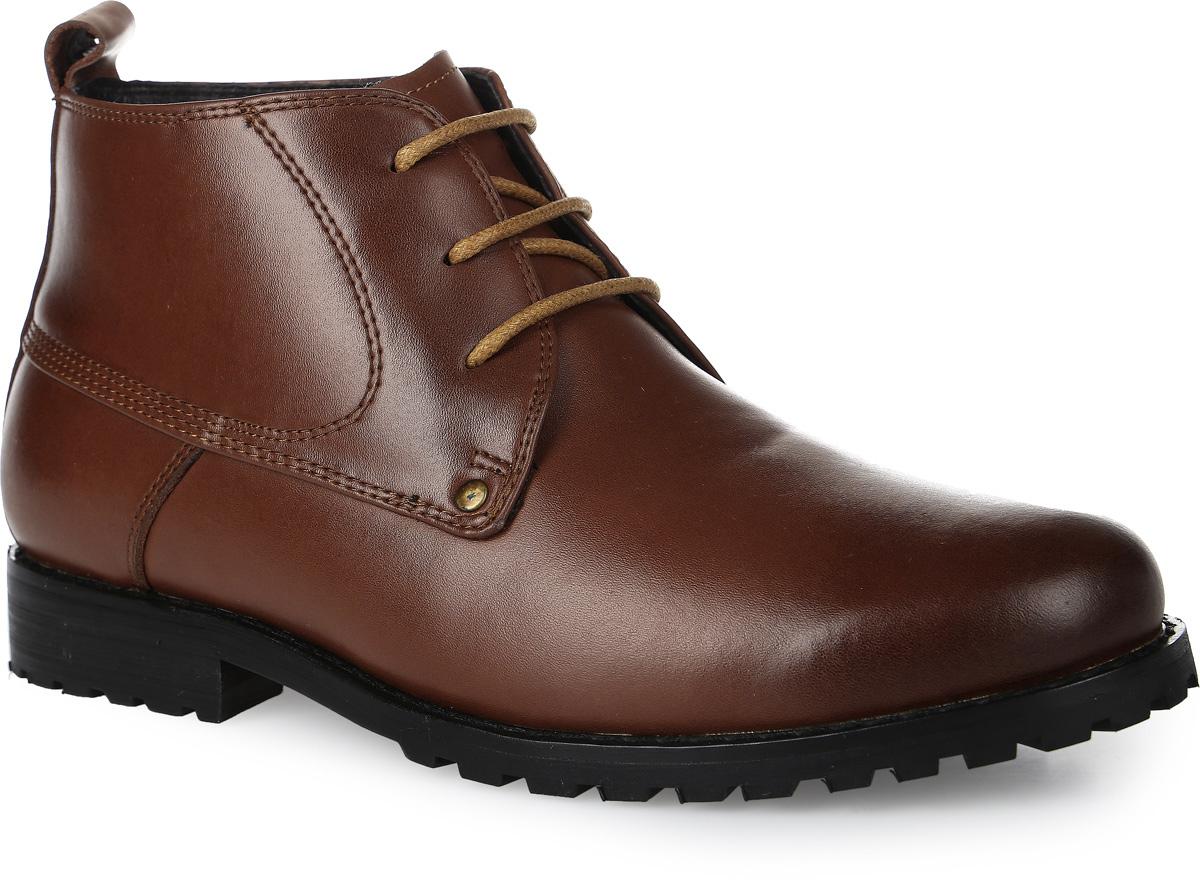 20528-8Стильные ботинки для мальчика от Vitacci выполнены из натуральной кожи. Шнуровка надежно зафиксирует модель на ноге. Подкладка и стелька из натурального меха не дадут ногам замерзнуть. Подошва и каблук дополнены рифлением.