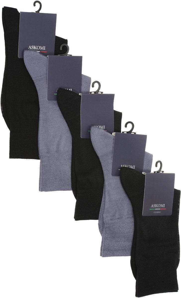 AMN-7150Стильный подарочный набор Askomi Classic включает 5 пар носков классических цветов. Носки, выполненные из мерсеризованного хлопка, отличаются идеальной плотностью.