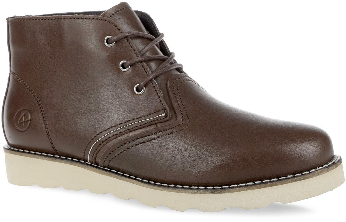 001-SP-03L3-WСтильные мужские ботинки от Affex Saint-P займут достойное место в вашем гардеробе. Модель выполнена из натуральной кожи и дополнена прострочкой по верху. Подъем оформлен шнуровкой, которая надежно фиксирует обувь на ноге и регулирует объем. Отверстия для шнурков с металлическими люверсами. Подкладка и съемная стелька, исполненные из искусственной шерсти, защитят ноги от холода и обеспечат комфорт. Сбоку изделие декорировано тиснением в виде логотипа бренда. Подошва с рельефным протектором обеспечивает отличное сцепление с любой поверхностью. В комплект входит вторая пара шнурков контрастного цвета. Модные ботинки отлично подойдут как для простой прогулки, так и для дальней поездки.