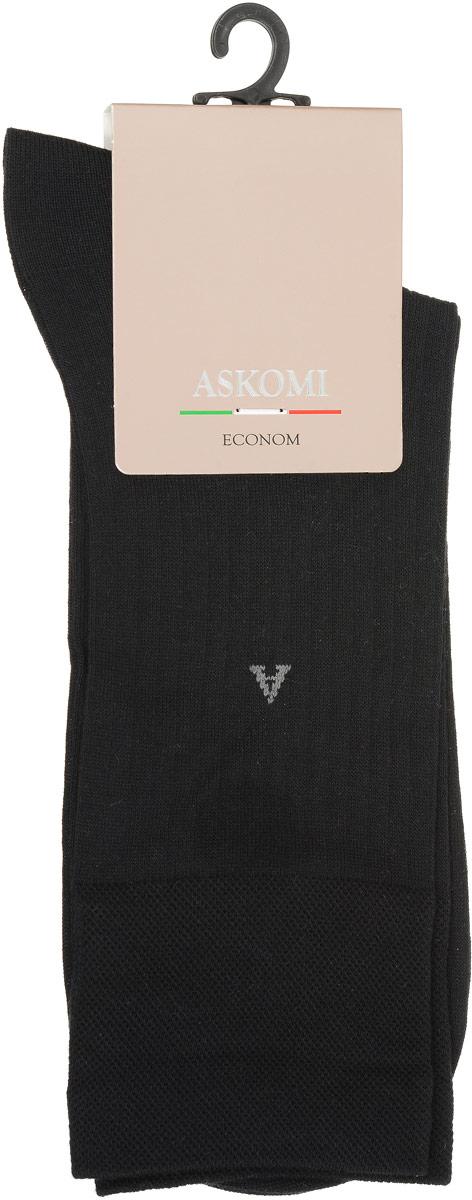 АМ-3800_8101Мужские носки Askomi Econom выполнены из бамбука с добавлением полиамида. Бамбуковое волокно придает носкам прочность и мягкость. Буква А на паголенке. Узкая полоска. Двойной борт для плотной фиксации не пережимает сосуды. Укрепление мыска и пятки для идеальной прочности. Кеттельный шов не ощутим для ноги.