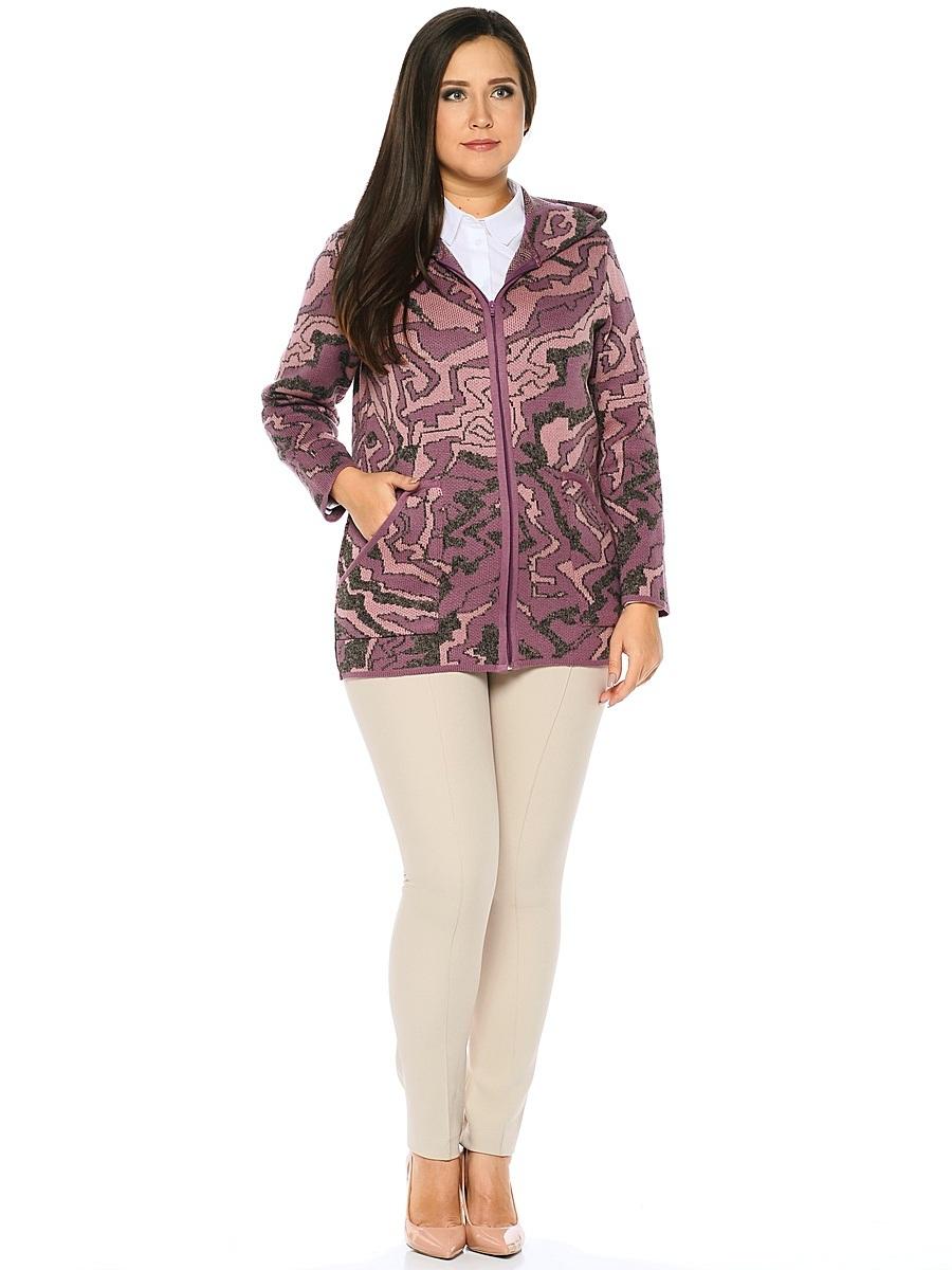 1149Стильный женский кардиган от Milana Style, выполненный из качественной пряжи, отлично дополнит ваш образ. Модель с капюшоном и длинными рукавами застегивается на молнию по всей длине и дополнена двумя накладными карманами.