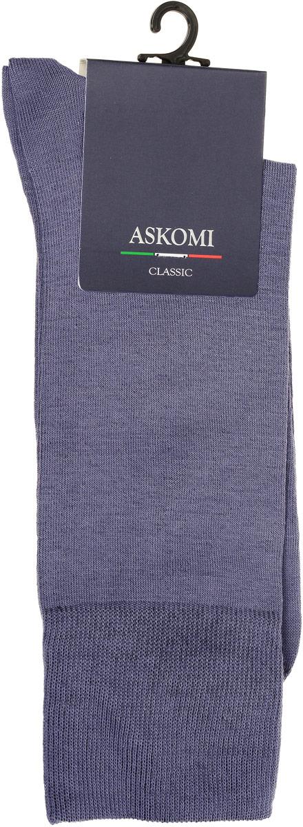 НоскиАМ-5100_8101Мужские носки Askomi Classic выполнены из хлопка с добавлением полиамида и лайкры, что является оптимальным сочетанием волокон. Дополнены двойным бортом для плотной фиксации, не пережимающим сосуды. Кеттельный шов не ощутим для ноги.