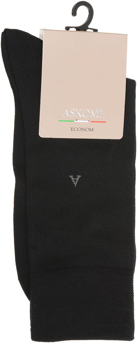 НоскиАМ-3400_8101Мужские носки Askomi Econom выполнены из хлопка с добавлением полиамида. Буква А на паголенке. Крупный ромб. Дополнены двойным бортом для плотной фиксации, не пережимающим сосуды. Укрепление мыска и пятки для идеальной прочности. Кеттельный шов не ощутим для ноги.