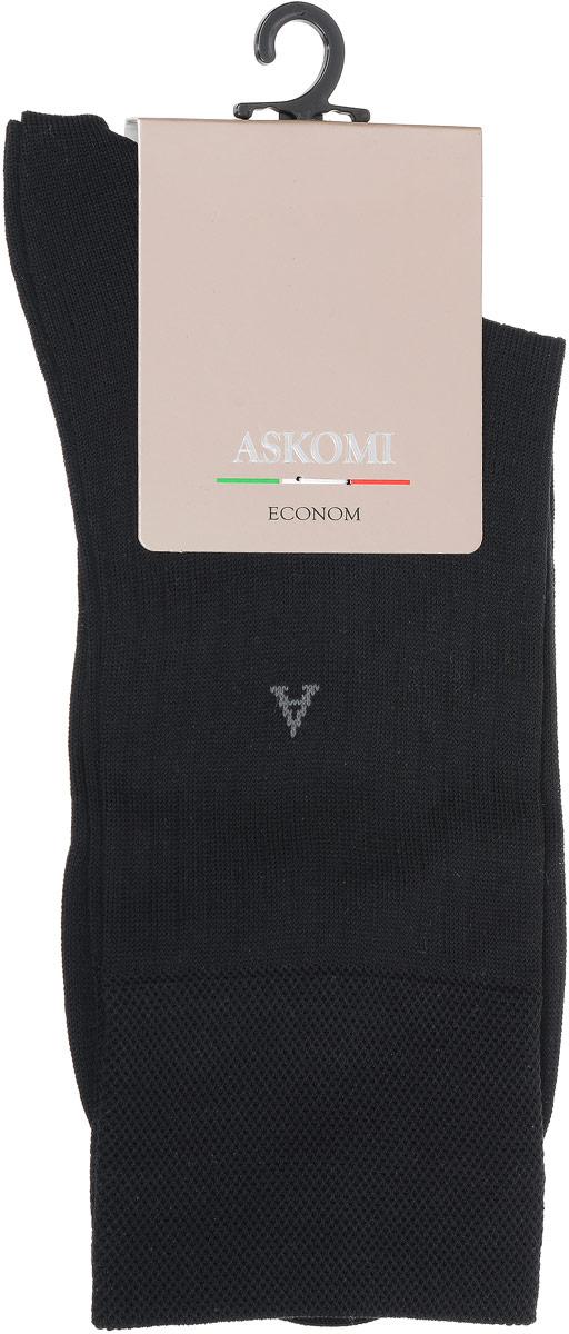 НоскиАМ-3200_2404Мужские носки Askomi Econom выполнены из хлопка с добавлением полиамида. Буква А на паголенке. Узкая полоска. Дополнены двойным бортом для плотной фиксации, не пережимающим сосуды. Укрепление мыска и пятки для идеальной прочности. Кеттельный шов не ощутим для ноги.