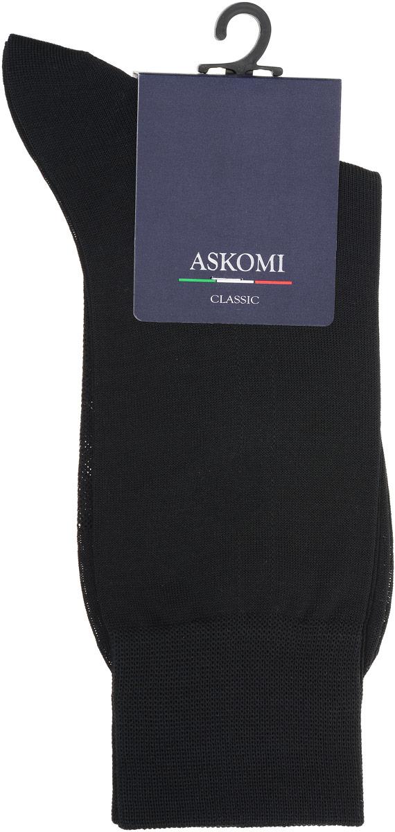 НоскиАМ-5200_8101Мужские носки Askomi Classic выполнены из мерсеризованного хлопка. Перфорированная сеточка на стопе придает дополнительную воздухопроницаемость. Двойной борт для плотной фиксации не пережимает сосуды. Укрепление мыска и пятки для идеальной прочности. Кеттельный шов не ощутим для ноги.