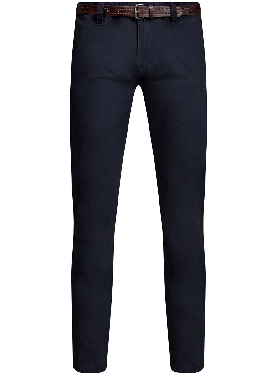 Брюки2B150022M/25735N/2300NМужские брюки oodji Basic выполнены из высококачественного материала. Модель-чинос стандартной посадки застегивается на пуговицу в поясе и ширинку на застежке-молнии. Пояс имеет шлевки для ремня. Спереди брюки дополнены втачными карманами, сзади - прорезными на пуговицах.