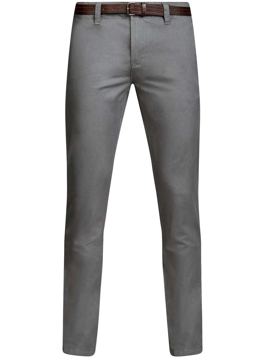 Брюки2B150022M/25735N/2300NМужские брюки oodji Lab выполнены из высококачественного материала. Модель-чинос стандартной посадки застегивается на пуговицу в поясе и ширинку на застежке-молнии. Пояс имеет шлевки для ремня. Спереди брюки дополнены втачными карманами, сзади - прорезными на пуговицах.