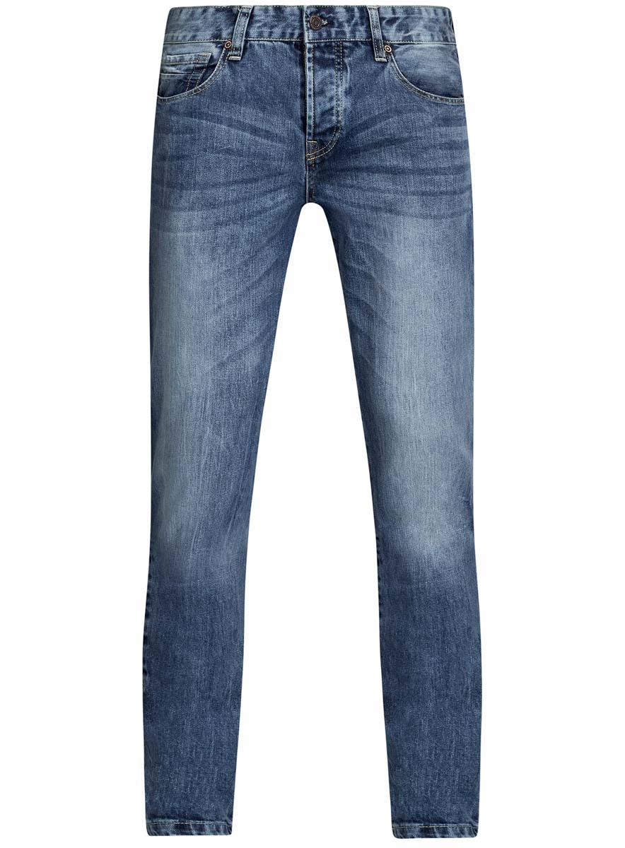 Джинсы6L100019M/46627/7500WМужские джинсы oodji Lab выполнены из высококачественного материала. Модель-слим средней посадки по поясу застегивается на пуговицу и имеют ширинку на застежке-молнии, а также шлевки для ремня. Джинсы имеют классический пятикарманный крой: спереди - два втачных кармана и один маленький накладной, а сзади - два накладных кармана.