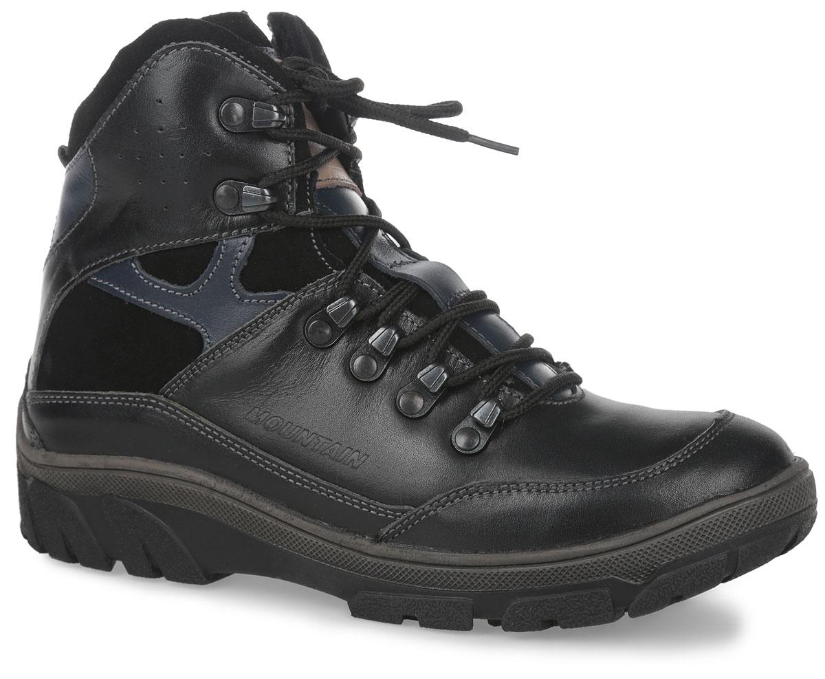 Ботинки11410-1Ботинки от Зебра изготовлены из натуральной кожи. На ноге модель фиксируется с помощью удобной боковой молнии и шнуровки. Ярлычок на заднике облегчает надевание обуви. Мягкий манжет создает комфорт при ходьбе и предотвращает натирание. Подкладка и стелька выполнены из натурального меха. Подошва, изготовленная из прочного и легкого ТЭП-материала, дополнена небольшим каблуком. Рифленая поверхность подошвы гарантирует отличное сцепление с любой поверхностью.