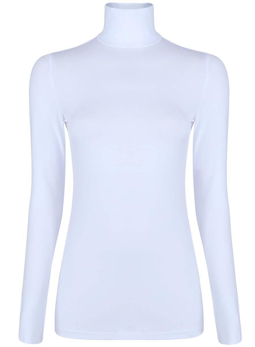 Водолазка15E02001B/46147/2900NБазовая женская водолазка oodji Ultra выполнена из эластичной хлопковой ткани. У модели воротник-гольф и стандартные длинные рукава.