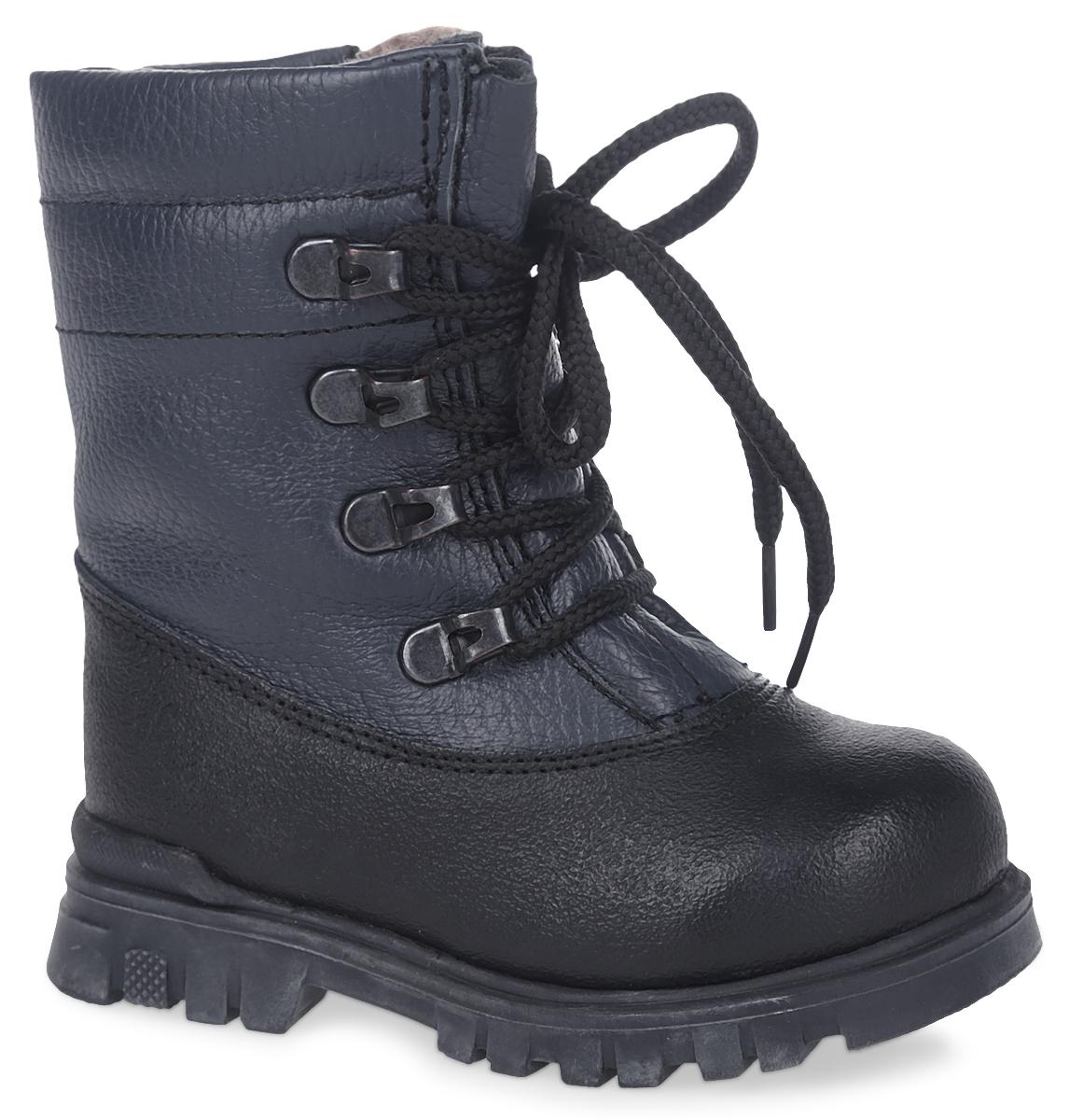 11183-5Модные ботинки от Зебра выполнены из натуральной кожи. Шнуровка надежно зафиксирует модель на ноге. Боковая застежка-молния позволяет легко снимать и надевать модель. Подкладка и стелька из натурального меха не дадут ногам замерзнуть. Подошва дополнена рифлением.