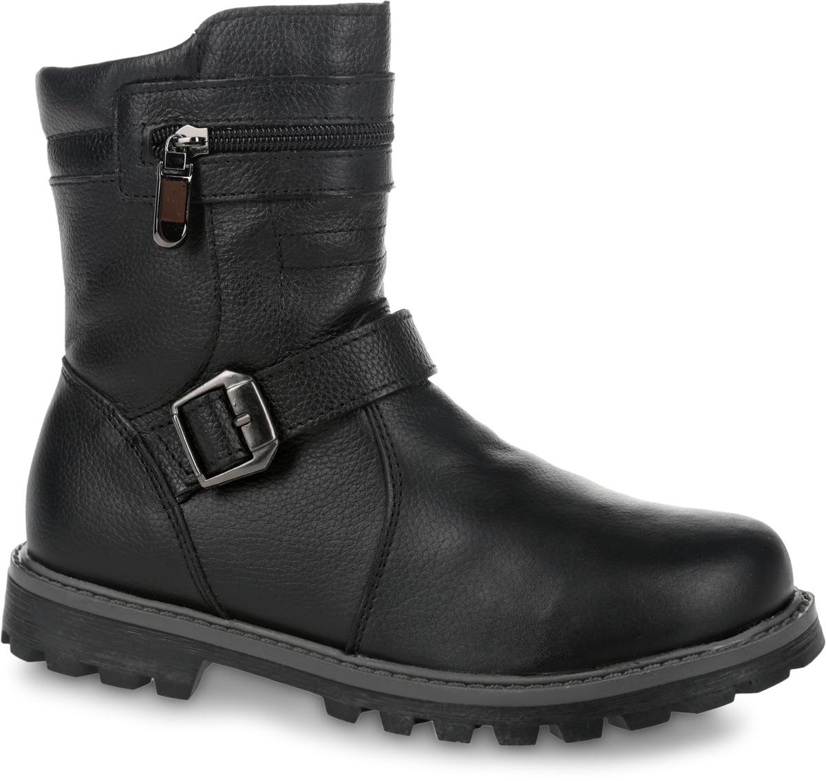 11204-1Полусапоги от Зебра выполнены из натуральной кожи и оформлены декоративными ремешками. Застежка-молния надежно фиксирует изделие на ноге. Мягкая подкладка и стелька из натуральноого меха обеспечивают тепло, циркуляцию воздуха и сохраняют комфортный микроклимат в обуви.