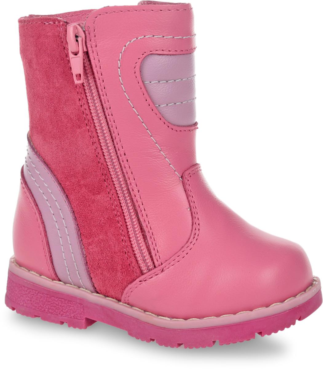 11189-9Полусапоги от Зебра выполнены из натуральной кожи. Застежка-молния надежно фиксирует изделие на ноге. Мягкая подкладка и стелька из натурального меха обеспечивают тепло, циркуляцию воздуха и сохраняют комфортный микроклимат в обуви. Подошва с рифлением гарантирует идеальное сцепление с любыми поверхностями. Сбоку модель оформлена декоративной молнией.