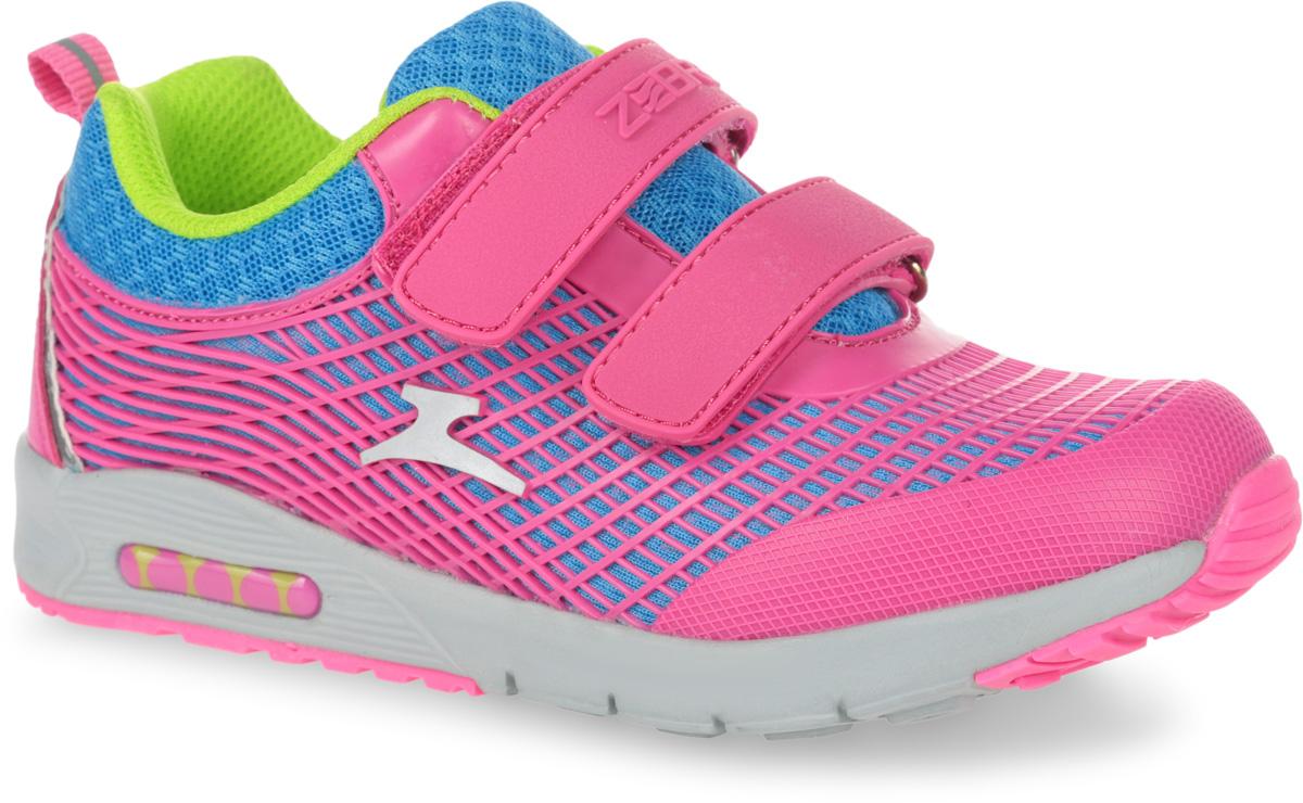 10899-9Кроссовки от фирмы Зебра выполнены из дышащего текстиля. Застежки-липучки обеспечивают надежную фиксацию обуви на ноге ребенка. Подкладка выполнена из текстиля, что предотвращает натирание и гарантирует уют. Стелька с поверхностью из натуральной кожи оснащена небольшим супинатором с перфорацией, который обеспечивает правильное положение ноги ребенка при ходьбе и предотвращает плоскостопие. Подошва с рифлением обеспечивает идеальное сцепление с любыми поверхностями.