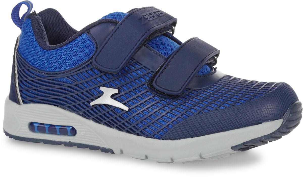 10898-5Кроссовки от фирмы Зебра выполнены из дышащего текстиля. Застежки-липучки обеспечивают надежную фиксацию обуви на ноге ребенка. Подкладка выполнена из текстиля, что предотвращает натирание и гарантирует уют. Стелька с поверхностью из натуральной кожи оснащена небольшим супинатором с перфорацией, который обеспечивает правильное положение ноги ребенка при ходьбе и предотвращает плоскостопие. Подошва с рифлением обеспечивает идеальное сцепление с любыми поверхностями.