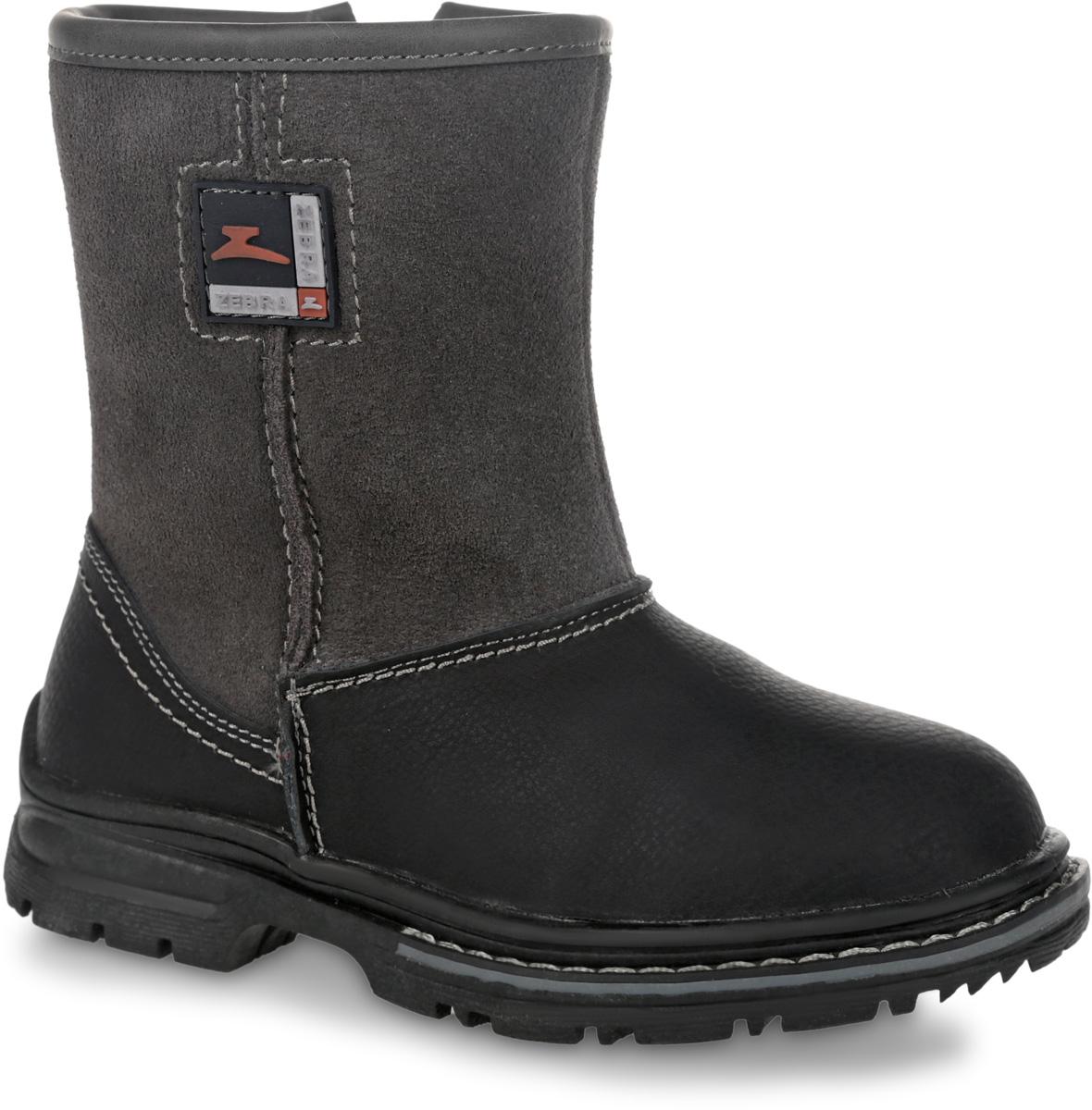 11116-10Полусапоги от Зебра выполнены из натуральной кожи в сочетании с натуральной замшей. Застежка-молния надежно фиксирует изделие на ноге. Мягкая подкладка и стелька из шерсти обеспечивают тепло, циркуляцию воздуха и сохраняют комфортный микроклимат в обуви.