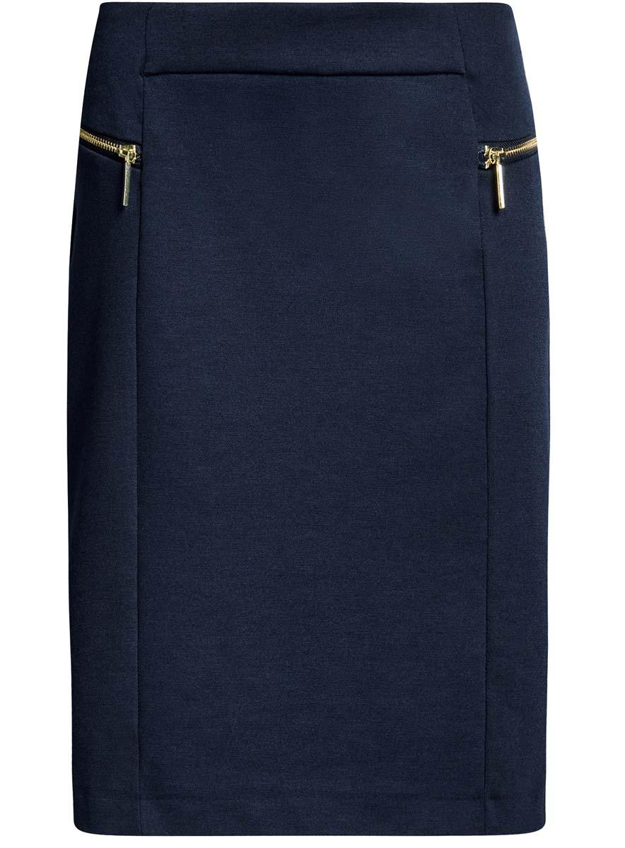 Юбка24100026-1/38261/2500MСтильная юбка oodji Collection изготовлена из полиэстера с добавлением вискозы и эластана. Модель застегивается на молнию, расположенную сзади. Спереди расположены две декоративные металлические молнии.