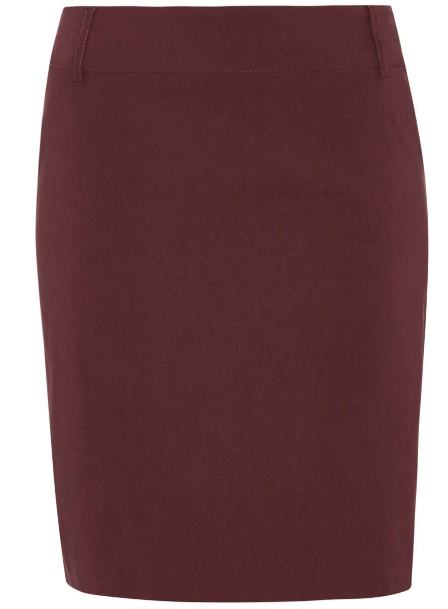 11610003/14007/2900NСтрейчевая юбка oodji Ultra выполнена из вискозы с добавлением полиамида и полиуретана. Юбка-карандаш длины миди сбоку дополнена потайной застежкой-молнией. Пояс оформлен шлевками, боковые стороны - имитацией карманов.