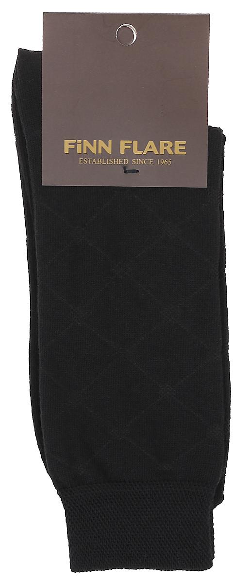 B17-21116_101Мужские носки Finn Flare изготовлены из высококачественного эластичного хлопка с добавлением полиамида. Удлиненные носки имеют эластичную резинку, которая надежно фиксирует носки на ноге.