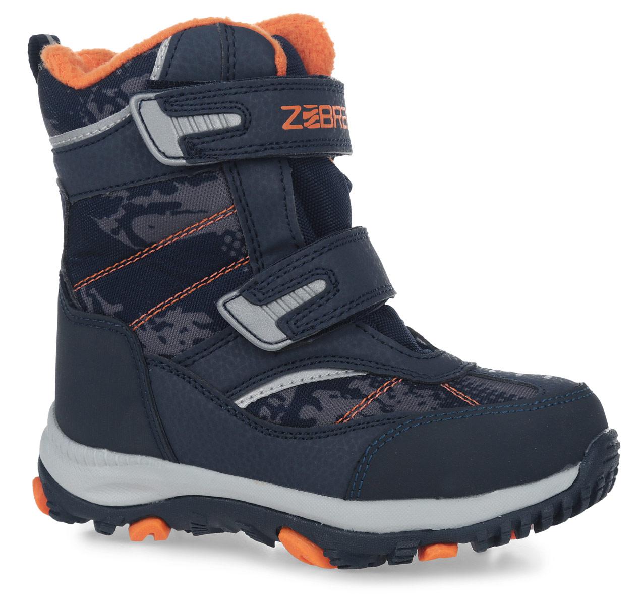 11019-10Полусапоги от Зебра выполнены из искусственной кожи и текстиля. Застежки-липучки надежно фиксируют изделие на ноге. Мягкая подкладка и стелька из шерсти обеспечивают тепло, циркуляцию воздуха и сохраняют комфортный микроклимат в обуви.