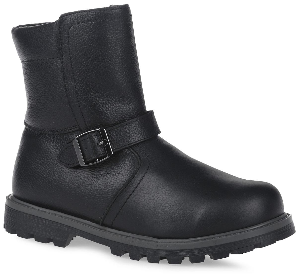 11207-1Полусапоги от Зебра выполнены из натуральной кожи и оформлены декоративным ремешком. Застежка-молния надежно фиксирует изделие на ноге. Мягкая подкладка и стелька из натурального меха обеспечивают тепло, циркуляцию воздуха и сохраняют комфортный микроклимат в обуви.