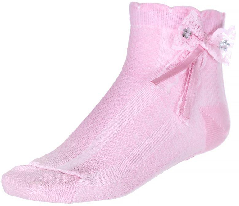 200313-1Носки для девочки Baykar выполнены из высококачественного эластичного хлопка с добавлением полиамида, мягкого и нежного на ощупь. Эластичная резинка в паголенке плотно облегает ногу, не сдавливая ее, обеспечивая комфорт и удобство. Носки дополнены бантиком со стразами. В комплект входит 2 пары.