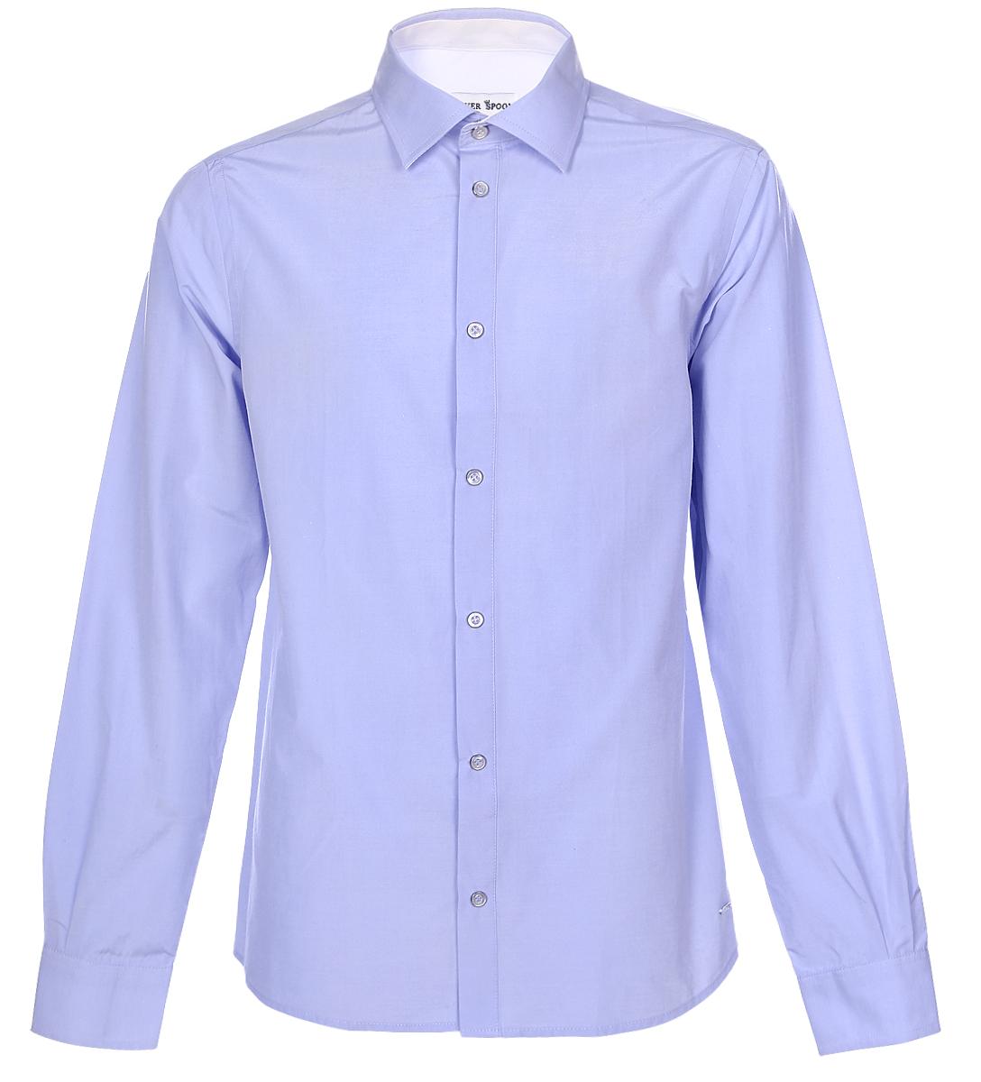 РубашкаSSFSB-629-13831-338Стильная рубашка Silver Spoon станет отличным дополнением к школьному гардеробу вашего мальчика. Модель, выполненная из хлопка с добавлением полиэстера, необычайно мягкая и приятная на ощупь, не сковывает движения и позволяет коже дышать. Рубашка классического кроя с длинными рукавами и отложным воротником застегивается на пуговицы по всей длине. На манжетах предусмотрены застежки-пуговицы.