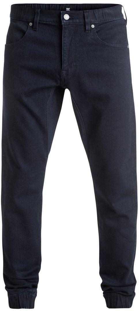 ДжинсыEDYDP03295-BTKWМужские джинсы DC Shoes изготовлены из удобного эластичного денима. Модель застегивается на молнию и пуговицу в поясе. Модель имеет кокетку наоборот и 4 кармана - 2 спереди и 2 сзади. Пояс оснащен шлевками для ремня. В районе коленей и ширинки предусмотрены строчки-закрепки. Пояс и низ брючин оснащены эластичной резинкой. На заднем кармане расположен логотип бренда.