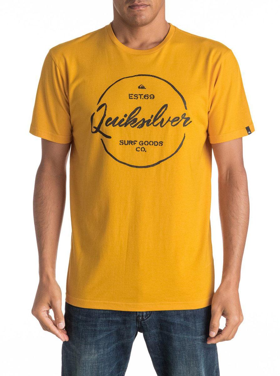 ФутболкаEQYZT04309-KVJ0Мужская футболка Quiksilver изготовлена из качественного материала. Модель выполнена с круглой горловиной и короткими рукавами.