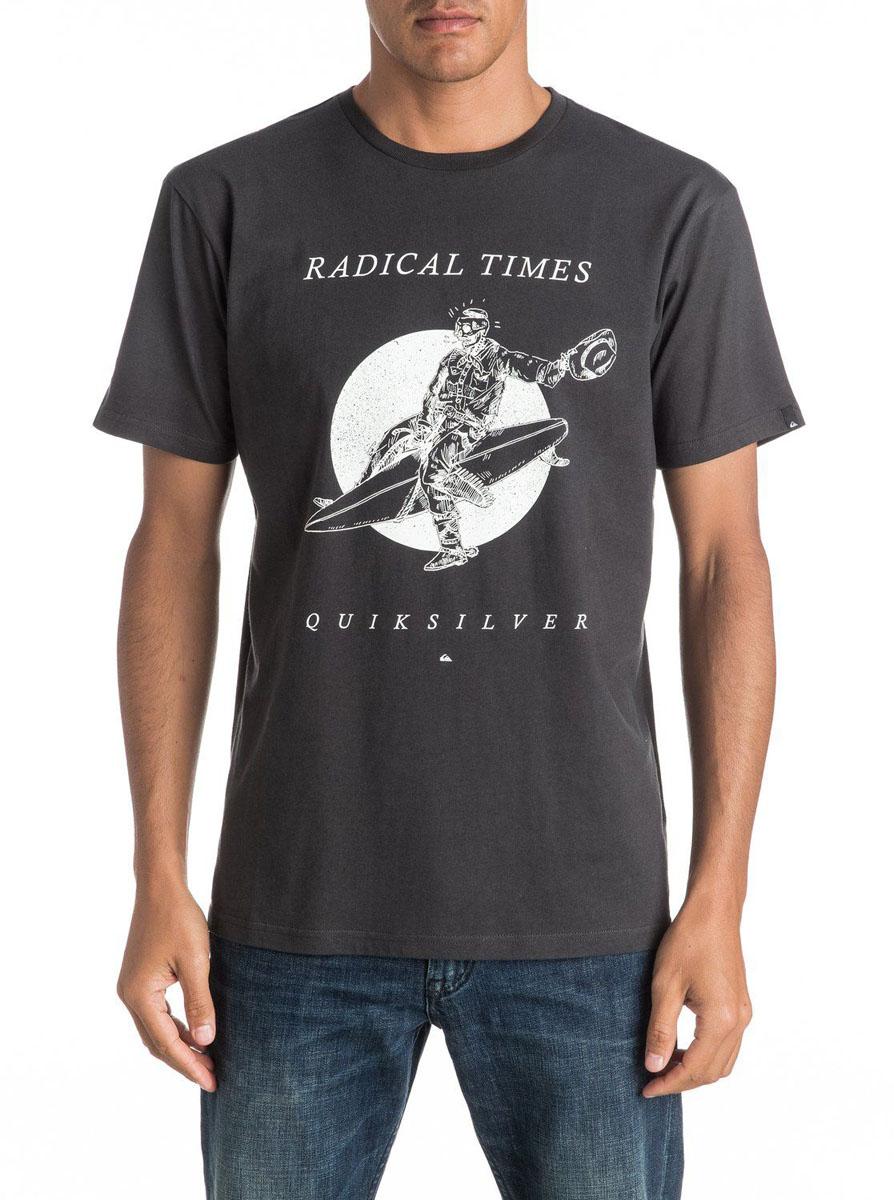 ФутболкаEQYZT04308-KTA0Мужская футболка Quiksilver изготовлена из качественного материала. Модель выполнена с круглой горловиной и короткими рукавами.