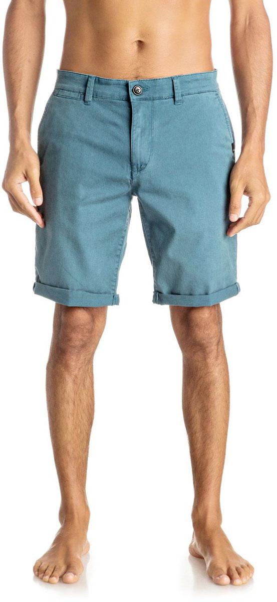 ШортыEQYWS03324-BQK0Шорты мужские Quiksilver изготовлены из качественной ткани. Модель длиной до колен застегивается на молнию и пуговицу. Изделие дополнено карманами.