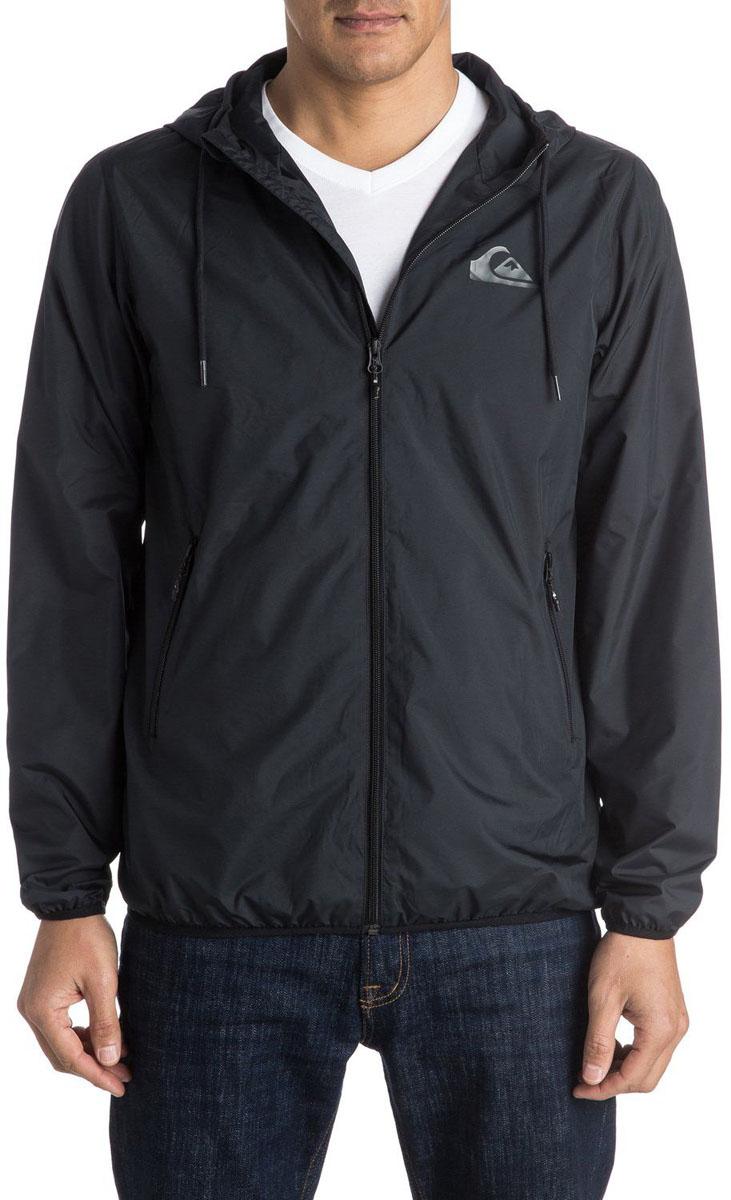 КурткаEQYJK03238-KVJ0Мужская куртка для Quiksilver выполнена из полиэстера. Модель с длинными рукавами и капюшоном застегивается на застежку-молнию. Изделие имеет спереди два врезных кармана. Рукава и низ куртки дополнены эластичными резинками.