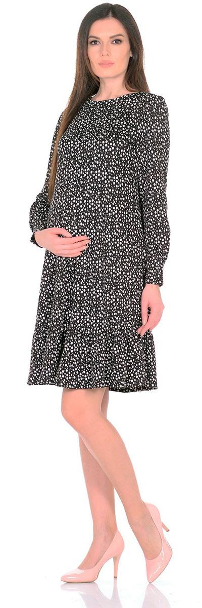 Платье2154.11 N.V.Платье Nuova Vita выполнено из вискозы и эластана. Модель с круглым вырезом горловины застегивается на пуговицу.